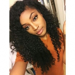 Cheap Price Factory Supply Natural 100% Human Hair Soft Kinky Curly Lace Front Wigs