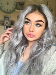 Blond Lace Front Human Hair Wigs Wavy Omber Hair Brazilian Vingan  Lace Front Wigs[BC276]