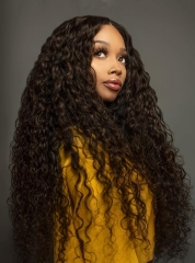 Pre Plucked Virgin Human Hair Free Shipping Curly Lace Front Wigs [BC258]