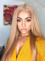 613  Straight Wig Blonde 100% Human Hair Lace Front Wigs For Women Lace Wigs[BC249]